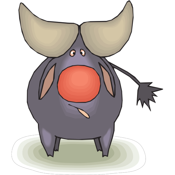 Confused Crosseyed Bull PNG images