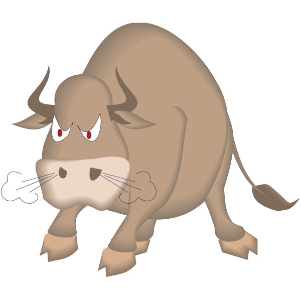 Angry Snorting Bull PNG Clip art