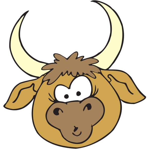 Shocked Bull PNG Clip art
