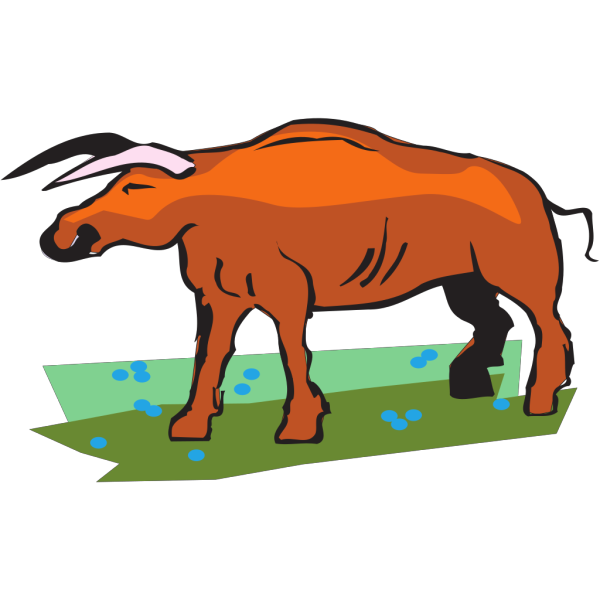 Bull In A Field PNG Clip art