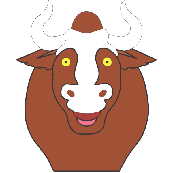 Happy Bull Face PNG Clip art