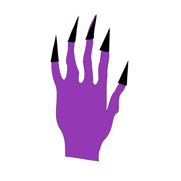 Halloween Hand With Black Nails PNG Clip art