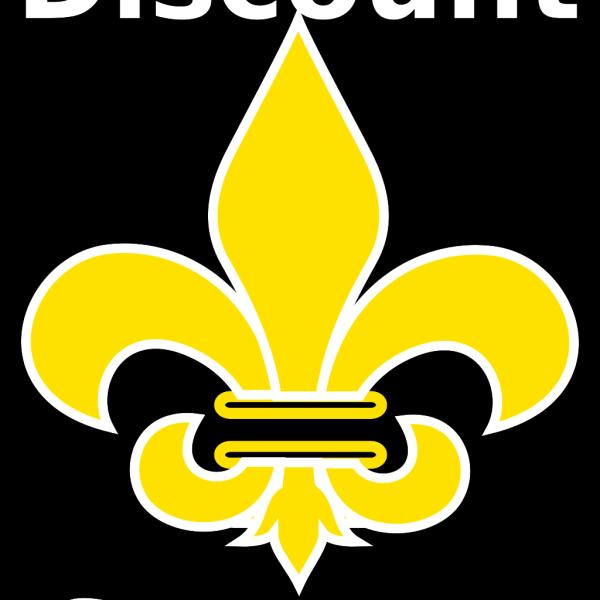 Fleur De Lis Gold With White PNG Clip art