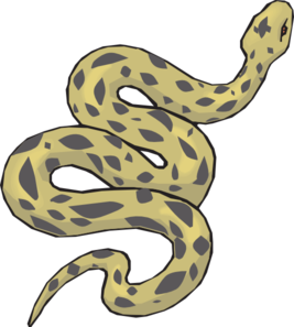 Slithering Yellow Snake PNG icon