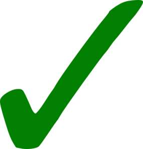 Small Green Check Mark PNG Clip art