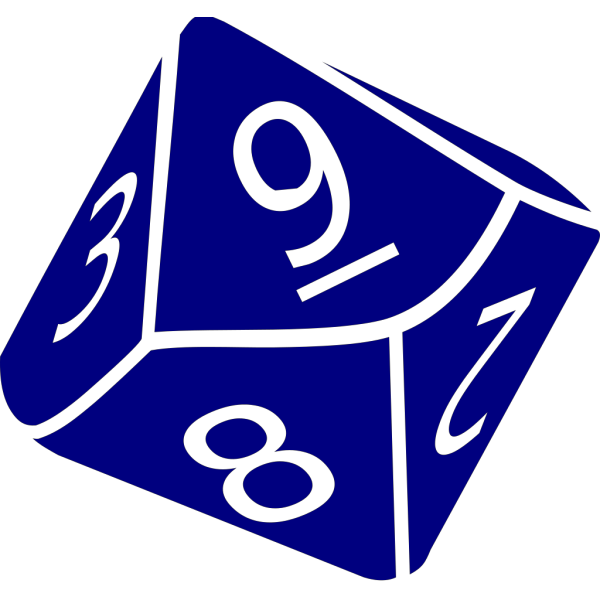 Ten Side Dice PNG images