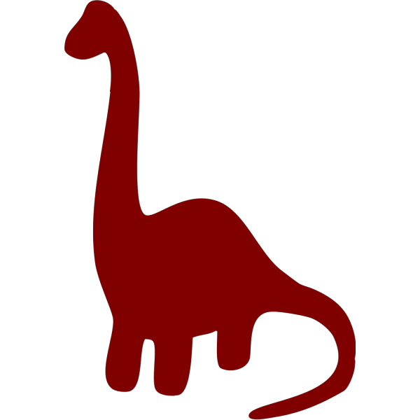 Long Necked Dinosaur Silhouette PNG icon