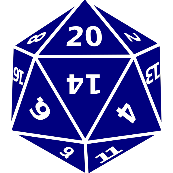 Twenty-sided Dice PNG Clip art