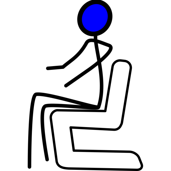 Sit Blue PNG Clip art