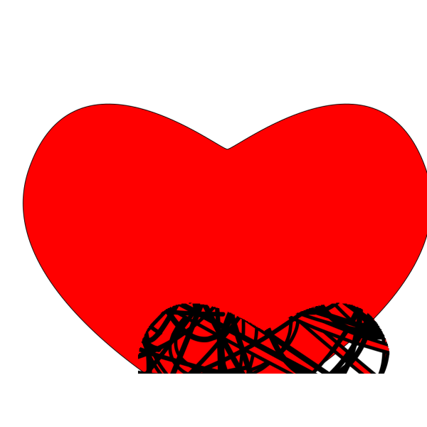 Heart Black And Red PNG image