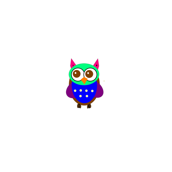 Colorful Baby Owl PNG Clip art