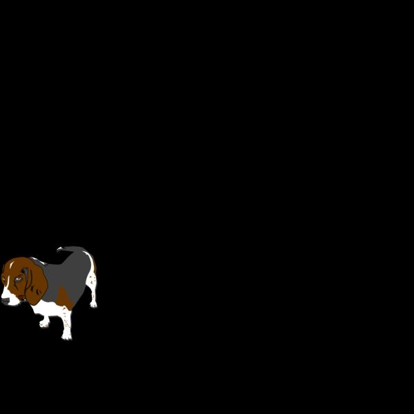 Grey Beagle PNG Clip art