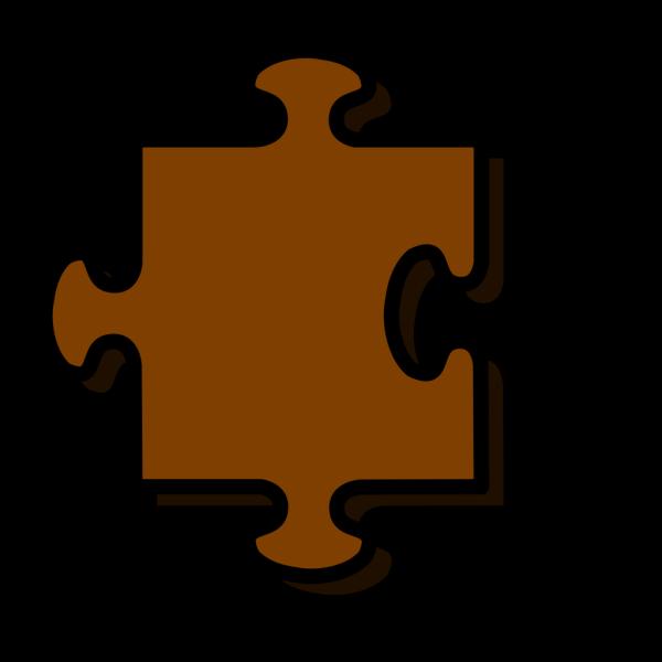 Brown Jigsaw PNG Clip art
