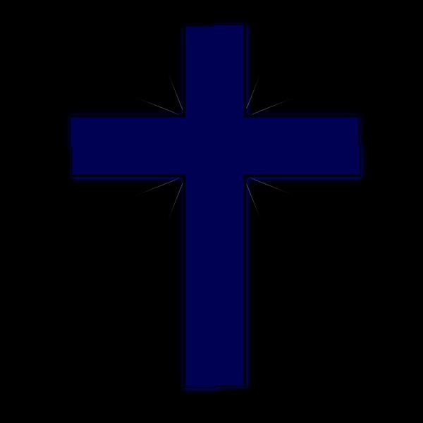 Dark Blue Cross PNG Clip art