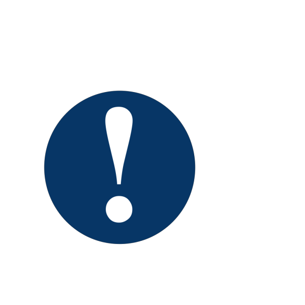 Dark Blue Caution PNG Clip art