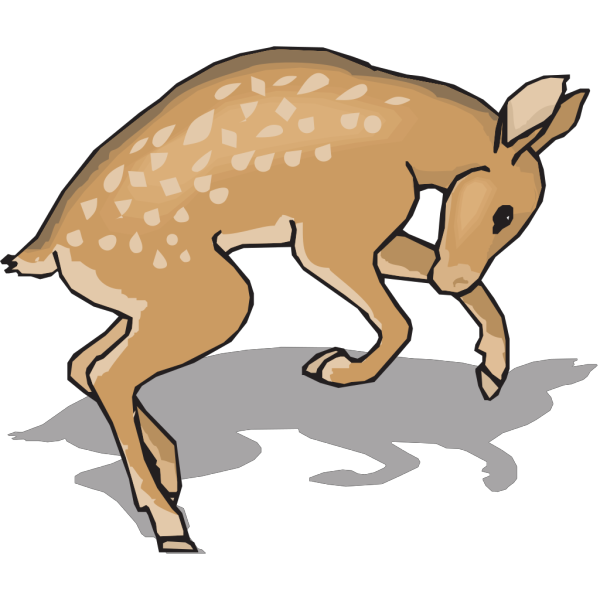 Jumping Fawn PNG Clip art