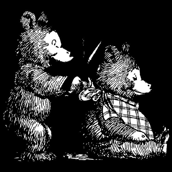 Bear Gets A Haircut PNG Clip art
