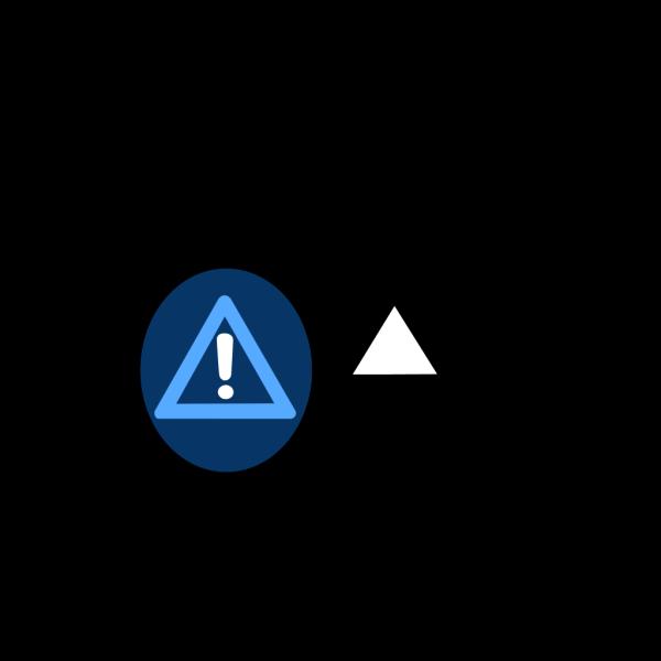 Light Blue Caution PNG icon