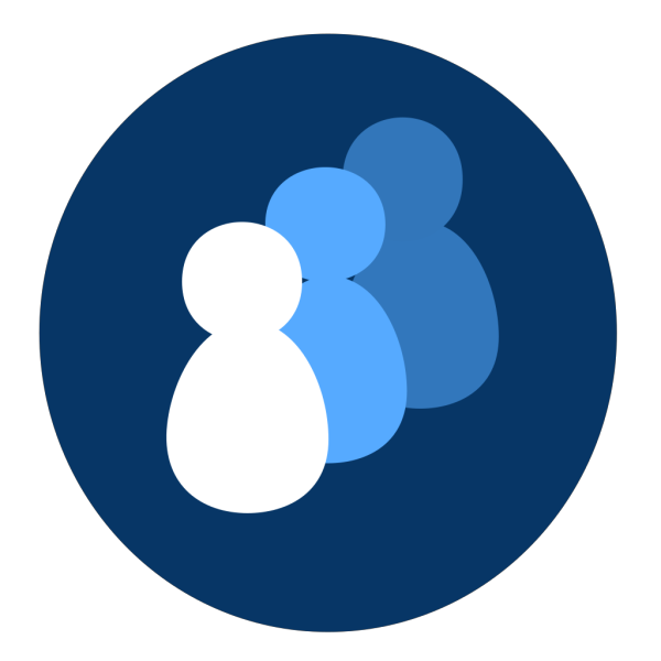 New Blue People PNG Clip art
