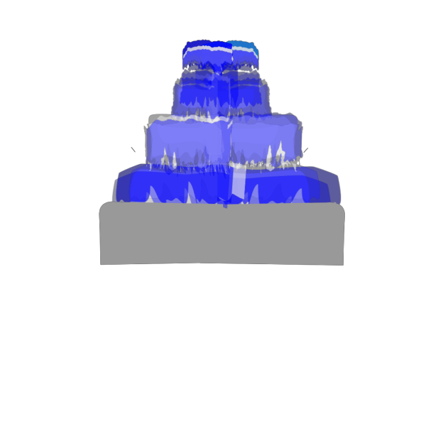Fountain Water Blue PNG images