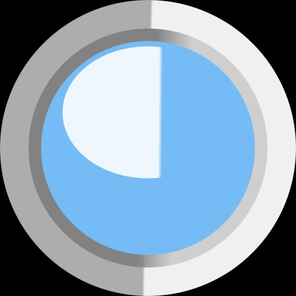 Light Blue 2 Led Circle PNG Clip art
