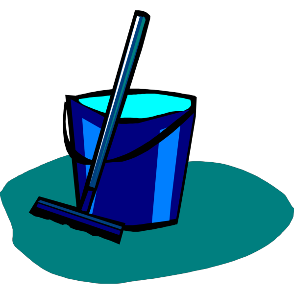 Mop And Bucket Blue PNG images
