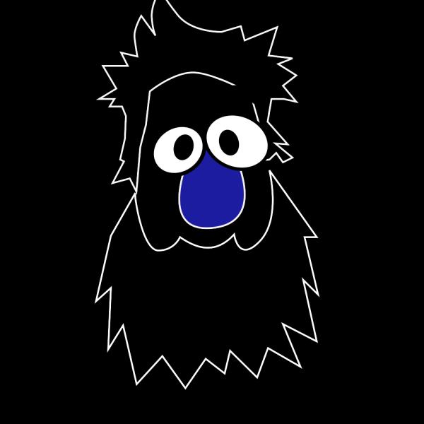 Caveman Blue White PNG Clip art