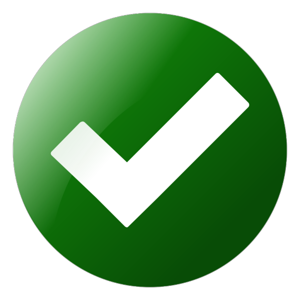 Simple Green Check Button PNG Clip art