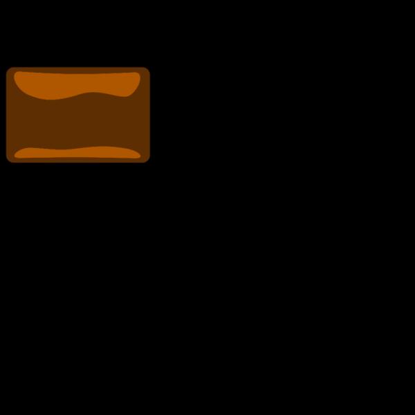 Dark Orange Button PNG Clip art