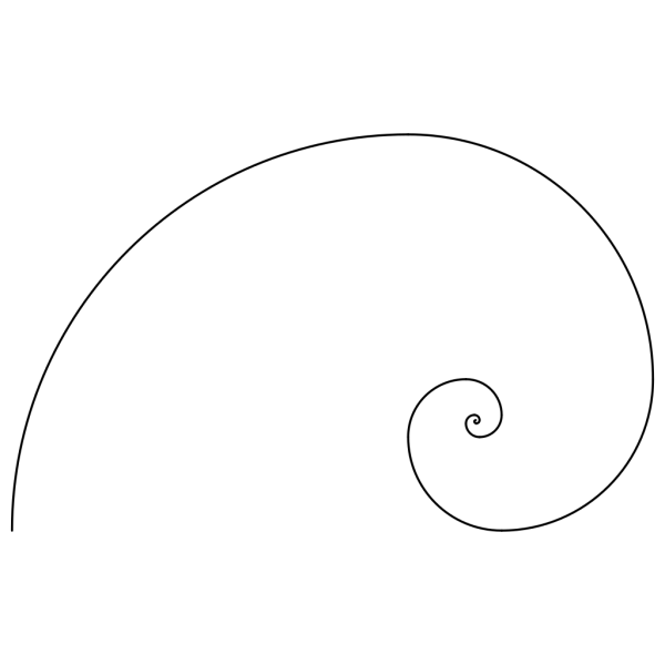 Fibonacci Spiral Blue PNG Clip art