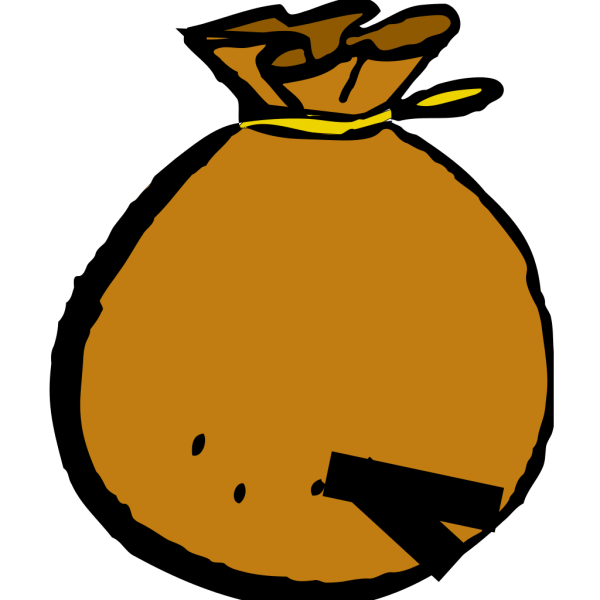Brown Bag With A Hole In It PNG images