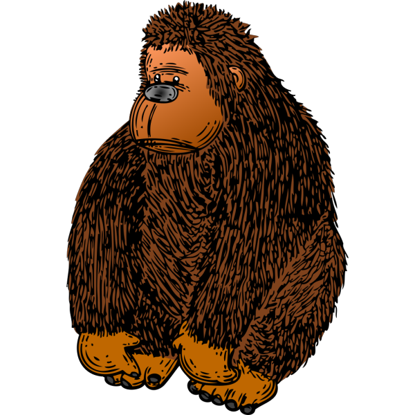 Brown Gorilla Stuffed Toy PNG Clip art