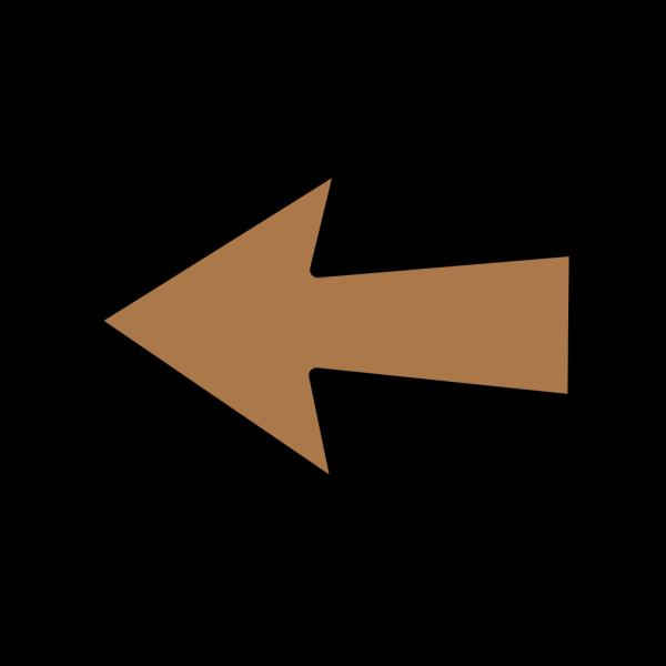 Left Arrow Brown PNG Clip art