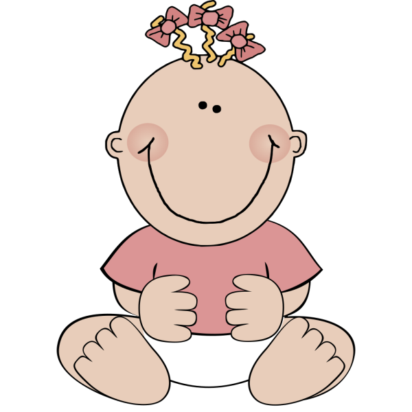Brown Baby Girl Sitting PNG Clip art