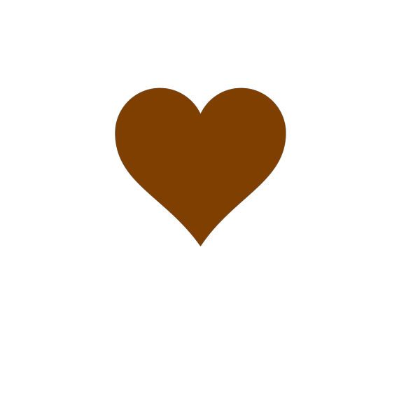 Chocolate Heart PNG Clip art