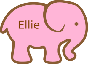 Personalized Birthday Elephant PNG images