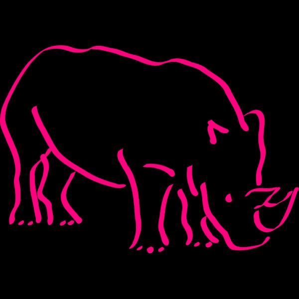 Pink Rhino PNG Clip art