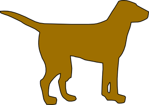Brown Dog Silhouette PNG Clip art