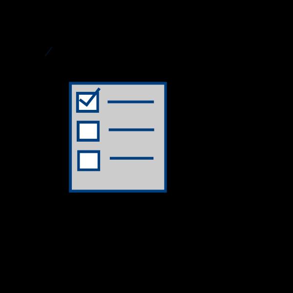 Checklist-gray PNG Clip art