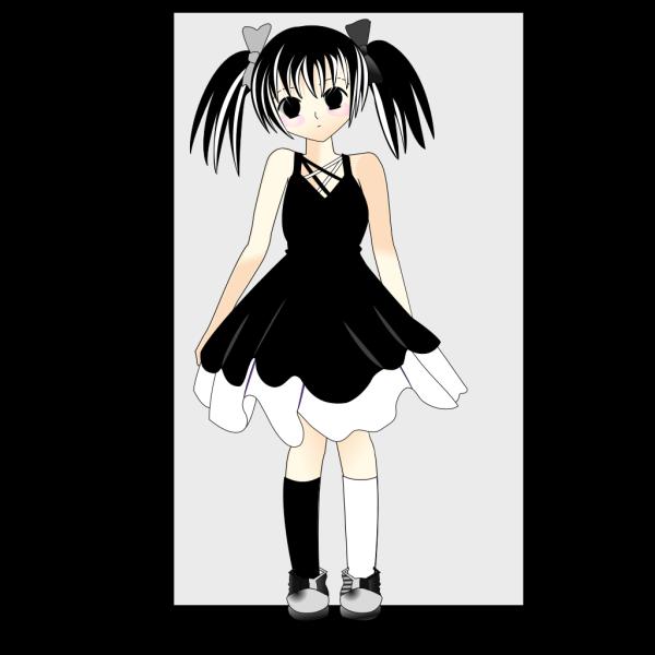 Mime Anim Girl PNG Clip art