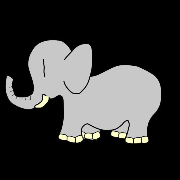 Simple Cartoon Elephant PNG Clip art