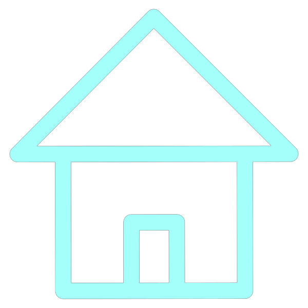 Home Icon Simple Frame Pale Vlue PNG Clip art