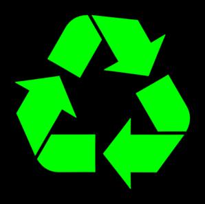 Black Recycle Symbol PNG Clip art