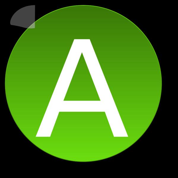 Green A PNG Clip art