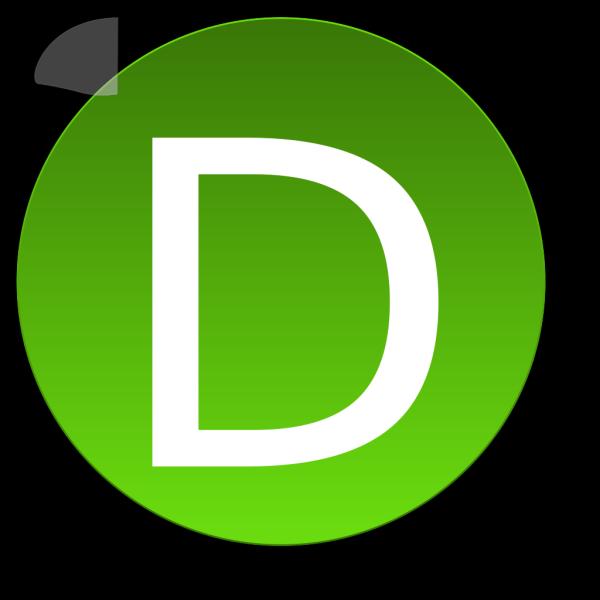 Green D PNG Clip art