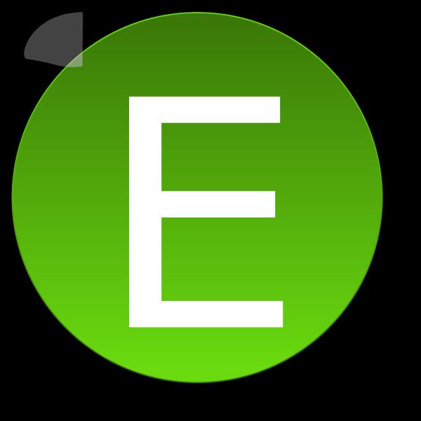 Green E PNG Clip art