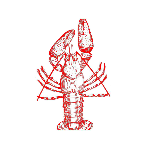 Crawfish (b And W) PNG Clip art