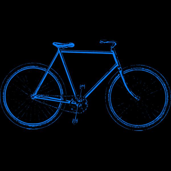 Blue Bike PNG Clip art