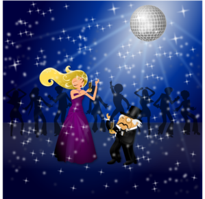Dancing Couple Red To Black PNG Clip art