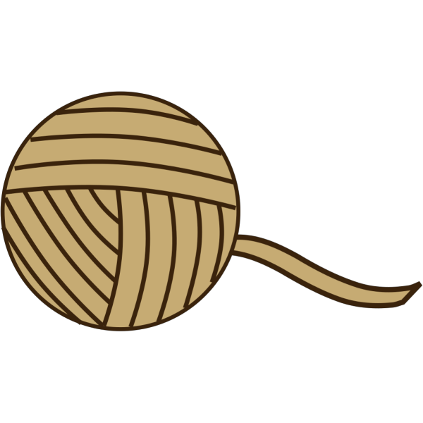 Brown Yarn PNG images